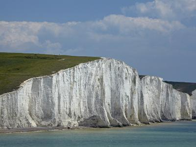 Seven Sisters Chalk Cliffs, Seen from Cuckmere Haven, Near Seaford, East Sussex, England