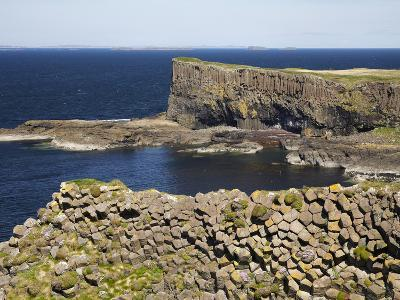 Polygonal Basalt, Staffa, Off Isle of Mull, Scotland