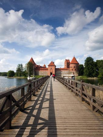 Island Castle on Lake Galve, Trakai Historical National Park, Trakai, Lithuania