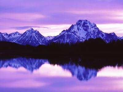Mountain Reflections on Lake, Grand Teton National Park, Wyoming, Usa