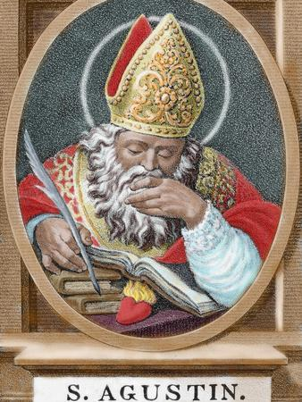 St. Augustine (354-430). African Bishop, Doctor and Father of the Church