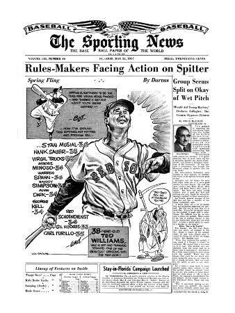 Boston Red Sox LF Ted Williams - May 15, 1957
