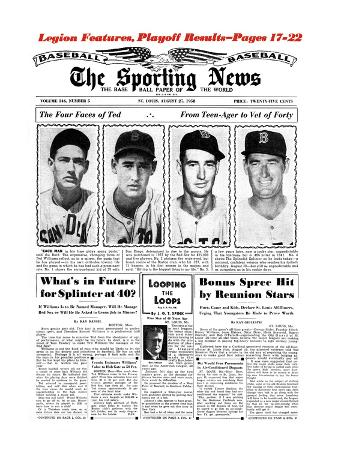 Boston Red Sox LF Ted Williams - August 27, 1958