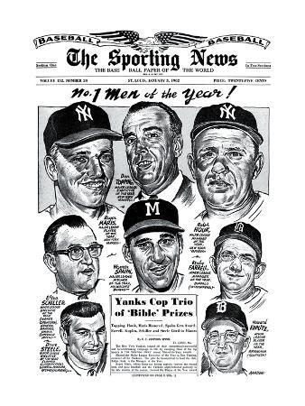 Men of the Year Roger Maris, Warren Spahn, Ralph Houk and more - January 3, 1962