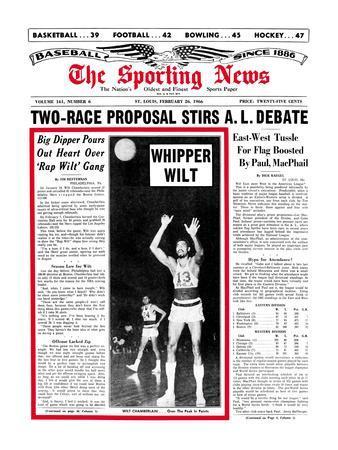 Philadelphia 76ers Wilt Chamberlain - February 26, 1966