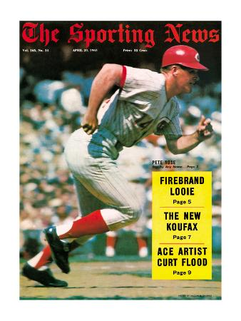 Cincinnati Reds 1B Pete Rose - April 20, 1968