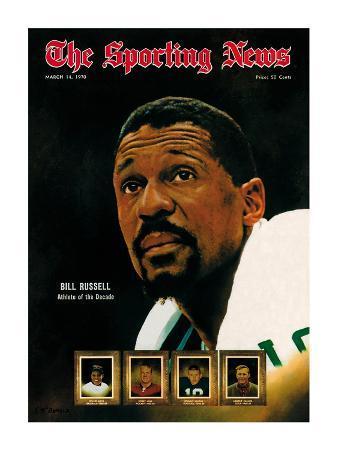 Boston Celtics' Bill Russell - March 14, 1970