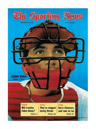 Cincinnati Reds Catcher Johnny Bench - October 24, 1970