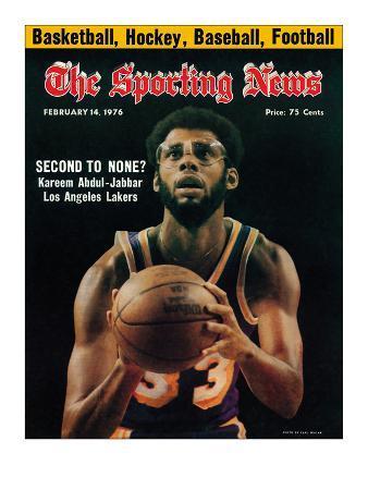 Los Angeles Lakers' Kareem Abdul-Jabbar - February 14, 1976