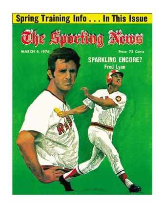 Boston Red Sox CF Fred Lynn - March 6, 1976