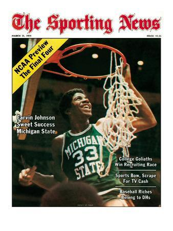Michigan State Spartans' Earvin Johnson