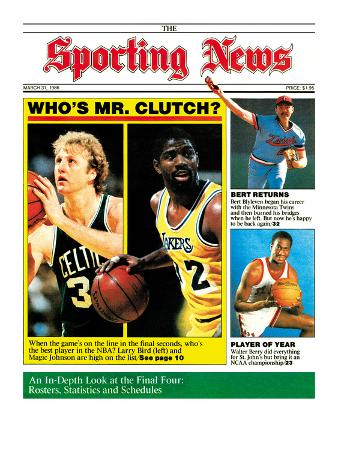 Boston Celtics' Larry Bird and L.A. Lakers' Magic Johnson - March 31, 1986