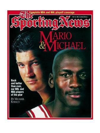 Chicago Bulls' Michael Jordan & Pittsburgh Penguins Mario Lemieux - May 13, 1996