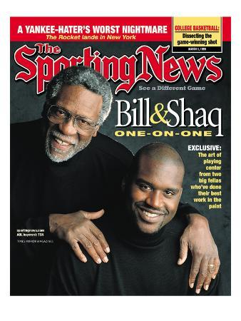 Boston Celtics' Bill Russell and Los Angeles Lakers' Shaquille O'Neal - March 1, 1999