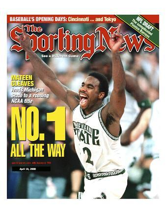 Michigan State Spartans' Mateen Cleaves - National Champions - April 10, 2000