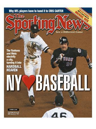 New York Yankees SS Derek Jeter and New York Mets C Mike Piazza - October 30, 2000