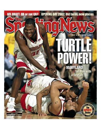 Maryland Terrapins Tahj Holden, Juan Dixon and Lonnie Baxter - National Champions - April 8, 2002
