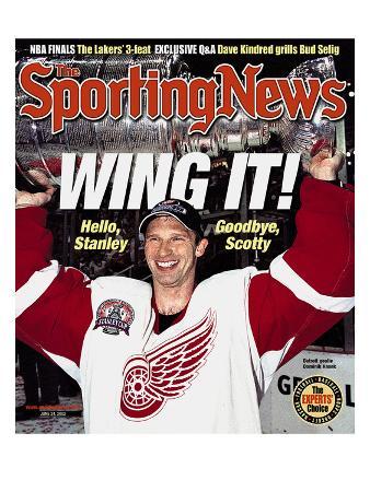 Detroit Red Wings Goalie Dominik Hasek - Stanley Cup Champions - June 24, 2002
