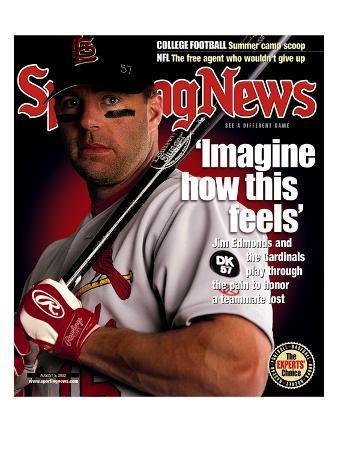 St. Louis Cardinals CF Jim Edmonds - August 5, 2002