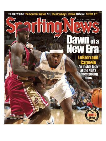 Cleveland Cavaliers' LeBron James and Denver Nuggets' Carmelo Anthony - November 17, 2003