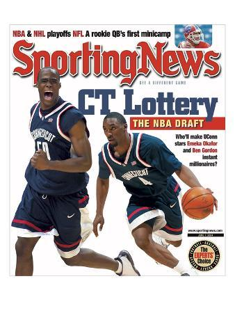UConn Huskies Emeka Okafor and Ben Gordon - June 7, 2004
