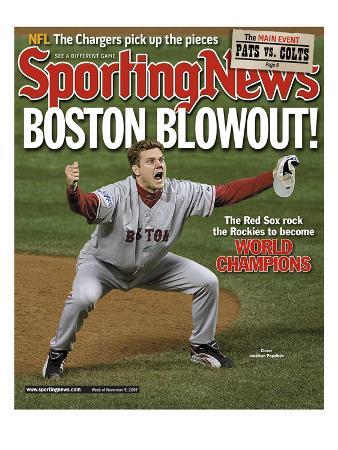 Boston Red Sox RP Jonathan Papelbon - World Series Champions - November 5, 2007