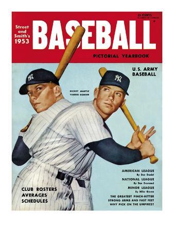 Sporting News Magazine, 1953 - Mickey Mantle - Yankee Bomber