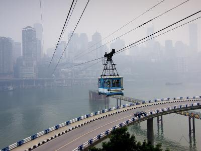 Cityscape With Cable Car, Chongqing City, Chongqing, China, Asia
