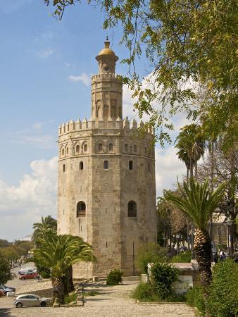 Torre Del Oro, Seville, Andalucia, Spain, Europe