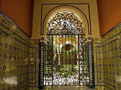 Beautiful Sevillan Patio, Triana District, Sevilla, Andalusia, Spain, Europe