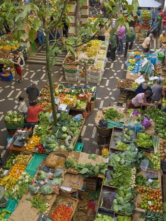 Mercado Dos Lavradores, the Covered Market For Producers of Island Food, Funchal, Madeira, Portugal
