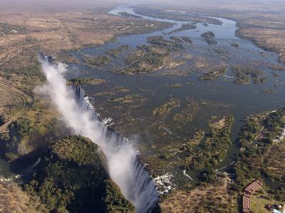 Victoria Falls, UNESCO World Heritage Site, Zambesi River, on the Border of Zambia and Zimbabwe