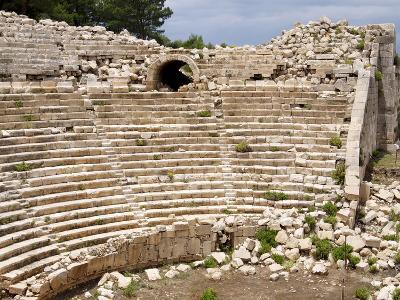 Amphitheatre at the Lycian Site of Patara, Near Kalkan, Antalya Province, Anatolia, Turkey