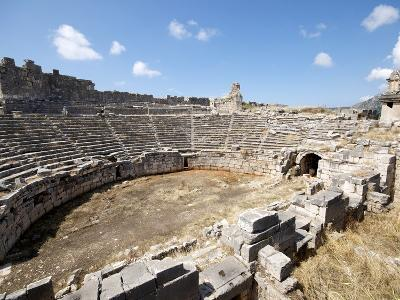 The Amphitheatre at the Lycian Site of Xanthos, Antalya Province, Anatolia, Turkey