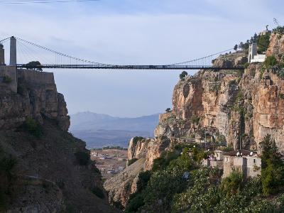 Sidi M'Cid Bridge Over a Huge Canyon, Constantine, Eastern Algeria, North Africa, Africa