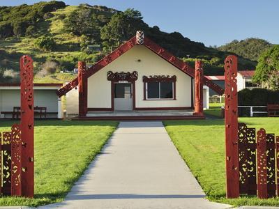 Marae, Torere, Bay of Plenty, North Island, New Zealand, Pacific