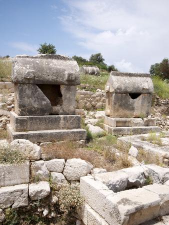 Sarcophagus at the Lycian Site of Patara, Near Kalkan, Antalya Province, Anatolia, Turkey