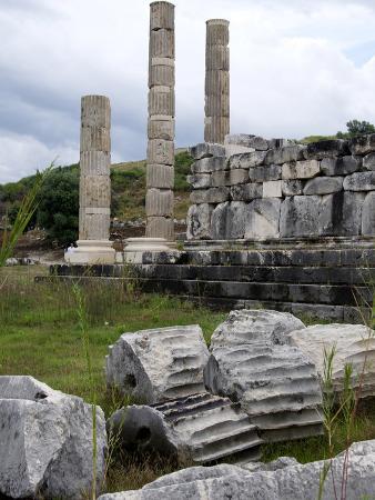 Thetemple of Leto at the Lycian Site of Letoon, Antalya Province, Anatolia, Turkey