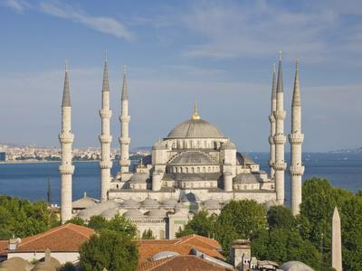 The Blue Mosque (Sultan Ahmet Camii), Sultanahmet, Central Istanbul, Turkey