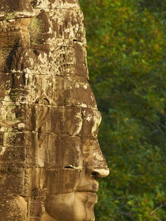 Close-Up of Sculpture, Bayon Temple, Dating From the 13Th Century, Angkor, Siem Reap, Cambodia