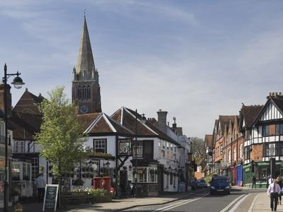 The Main Street, Lyndhurst, New Forest, Hampshire, England, United Kingdom, Europe