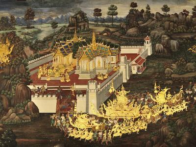 Scene From the Galleries, Royal Monastery, Grand Palace, Bangkok, Thailand, Southeast Asia, Asia