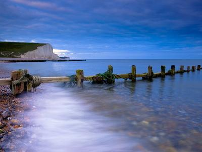 Seven Sisters Cliffs From Cuckmere Haven Beach, South Downs, East Sussex, England, United Kingdom