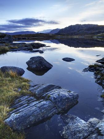 Loch Tollaidh at Dawn, Near Poolewe, Achnasheen, Wester Ross, Highlands, Scotland, United Kingdom