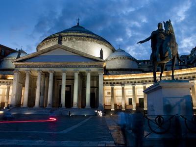 San Francesco Di Paola and Piazza Del Plebiscito, Naples, Campania, Italy, Europe