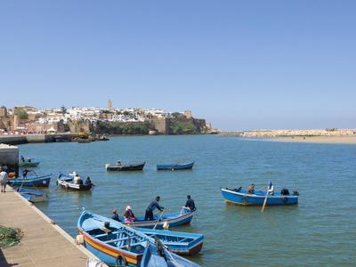 River Bouregreg, Rabat, Morocco, North Africa, Africa