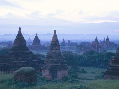 Buddhist Temples at Dawn, Bagan (Pagan) Archaeological Site, Mandalay Division, Myanmar (Burma)