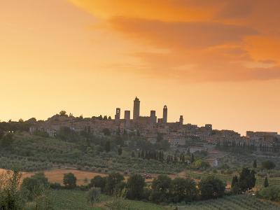 San Gimignano at Sunset, Siena Province, Tuscany, Italy, Europe