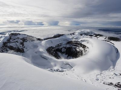 Summit Crater, Volcan Cotopaxi, 5897M, the Highest Active Volcano in the World, Ecuador