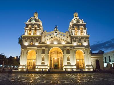 Cordoba Cathedral at Night, Cordoba, Argentina, South America